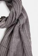 Women Grey Shawl with Shiny Line Detail