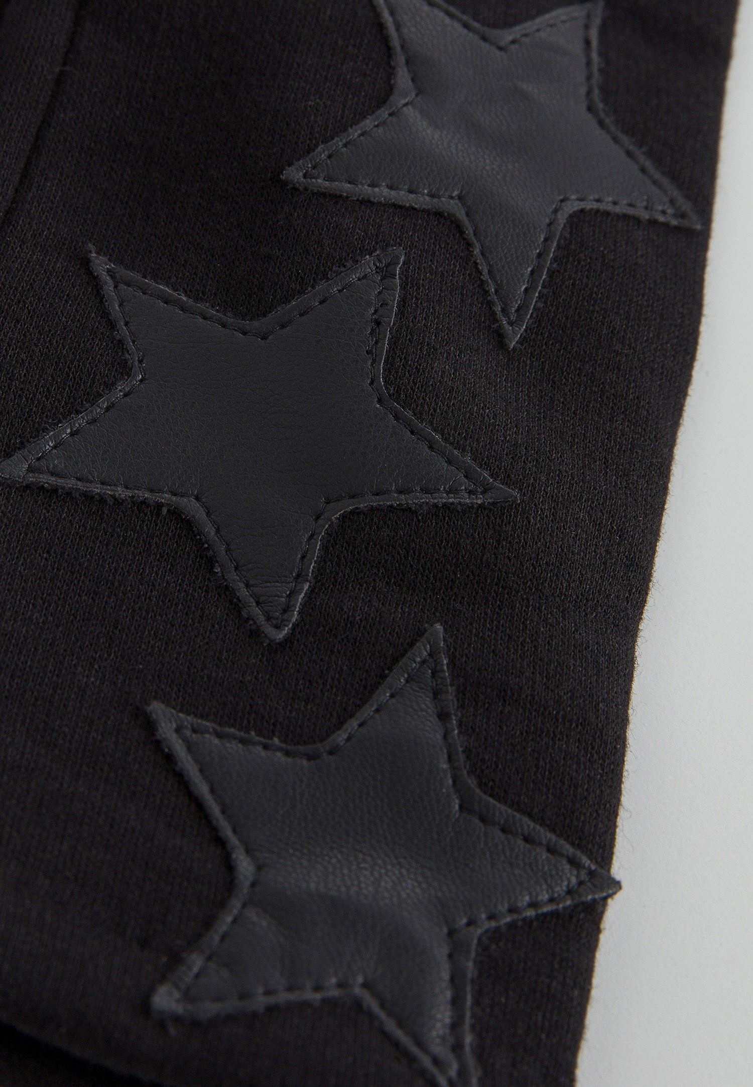 Bayan Siyah Yıldız Detaylı Eldiven