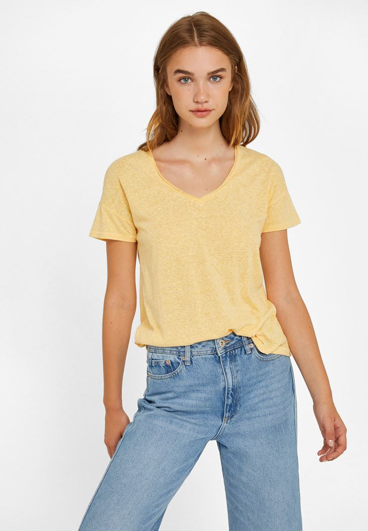 Yellow Cut Out T-shirt