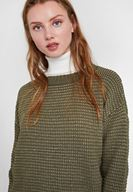 Women Mixed Striped Knitwear with Shiny