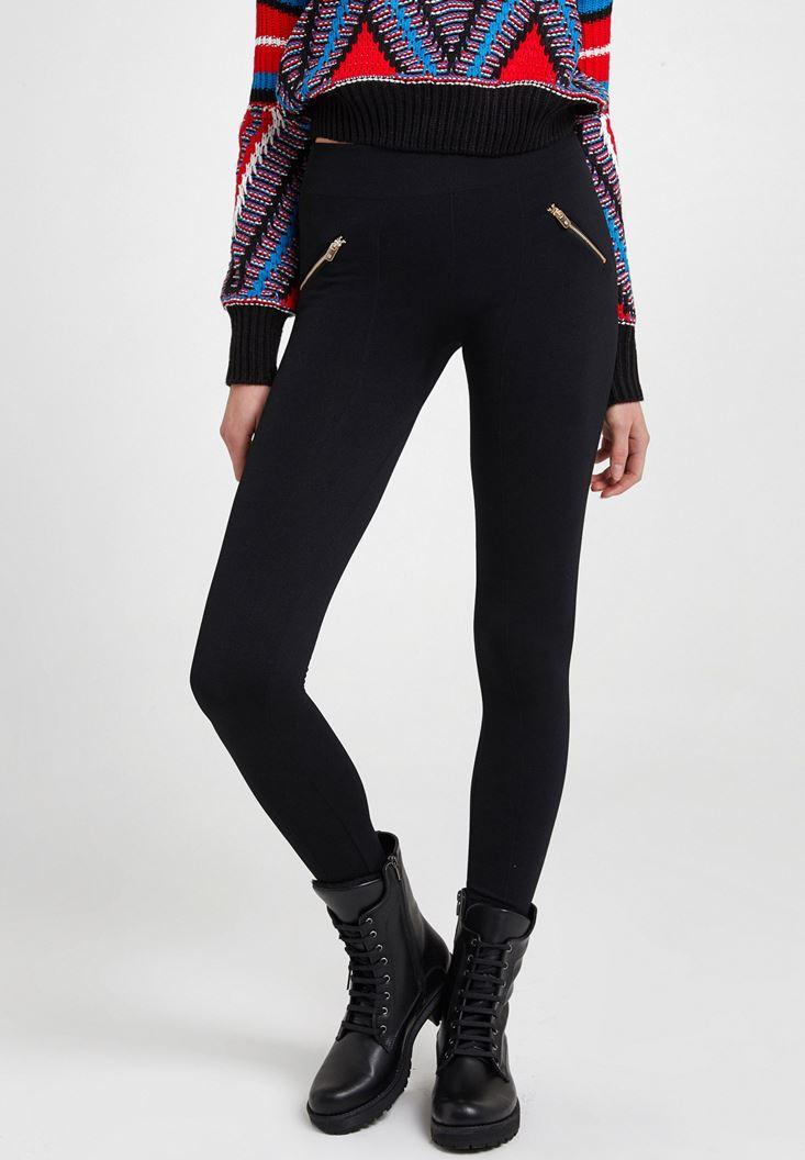 Black Leggings with Zips