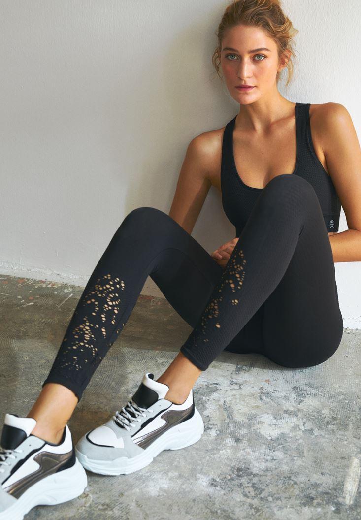 Black Sport Legging with Details