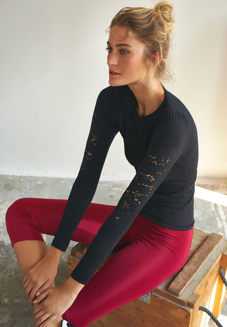 Black Long Sleeve Sport T-shirt