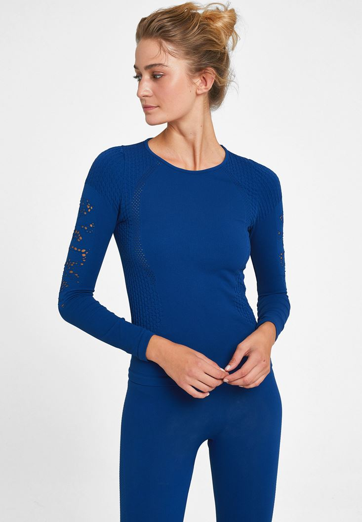 Navy Long Sleeve Sport T-shirt