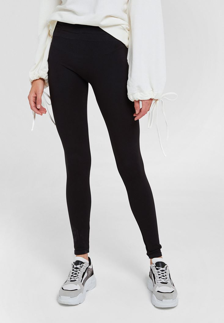 Black Legging with Detail