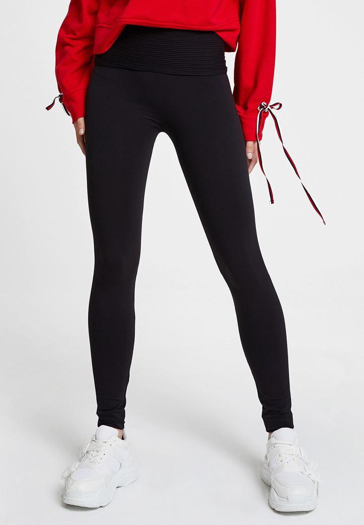 Black Legging with Belt Detail