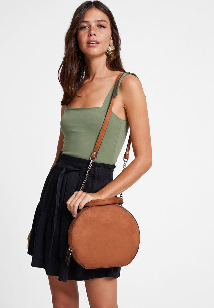 Green Tank with Wide Straps
