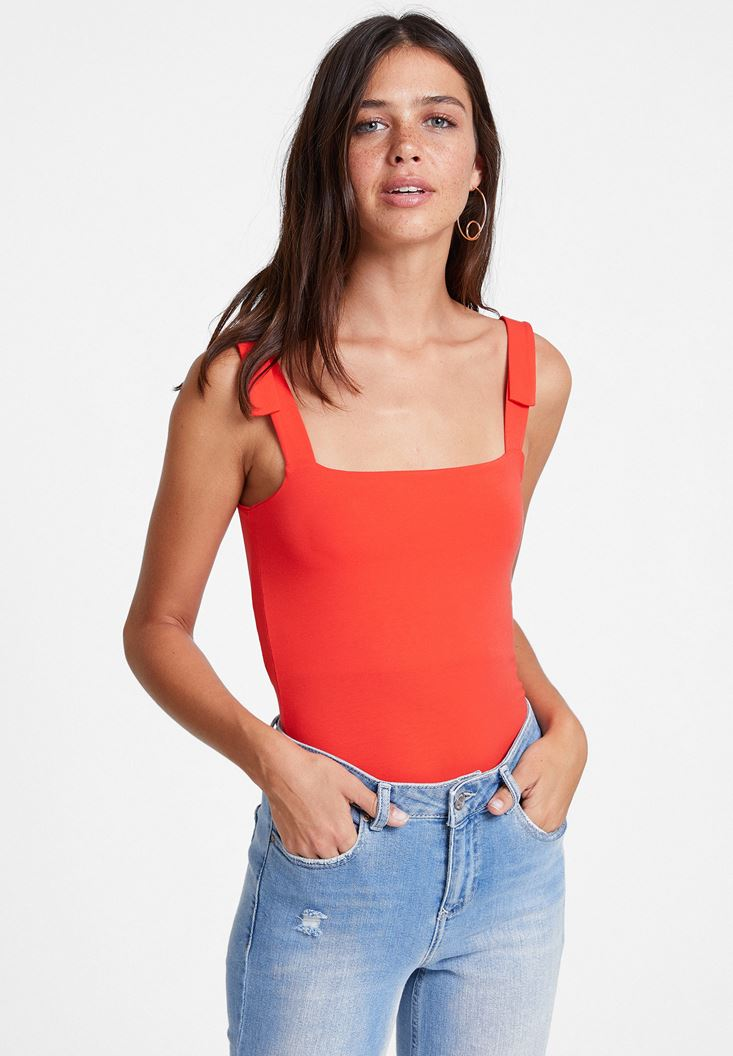 Red Tank with Wide Straps