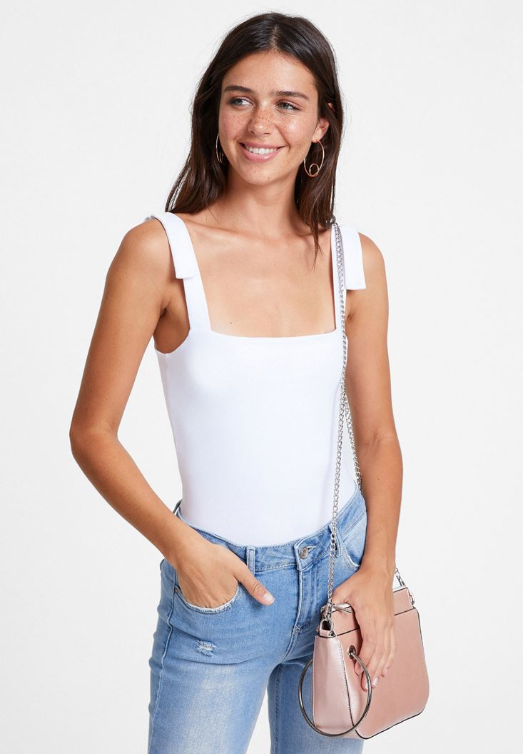White Tank with Wide Straps