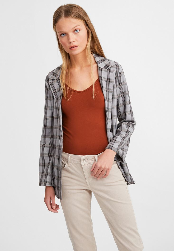 Brown Spaghetti Strap Top