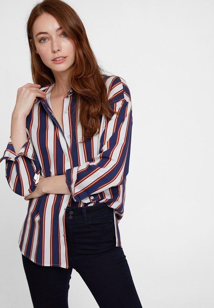 Cotton Shirt with Stripe