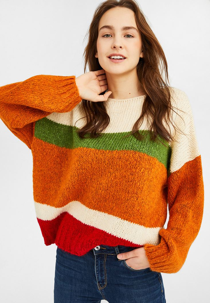 Mixed Colour Block Knitwear