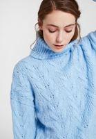 Women Blue Knitwear with Neck