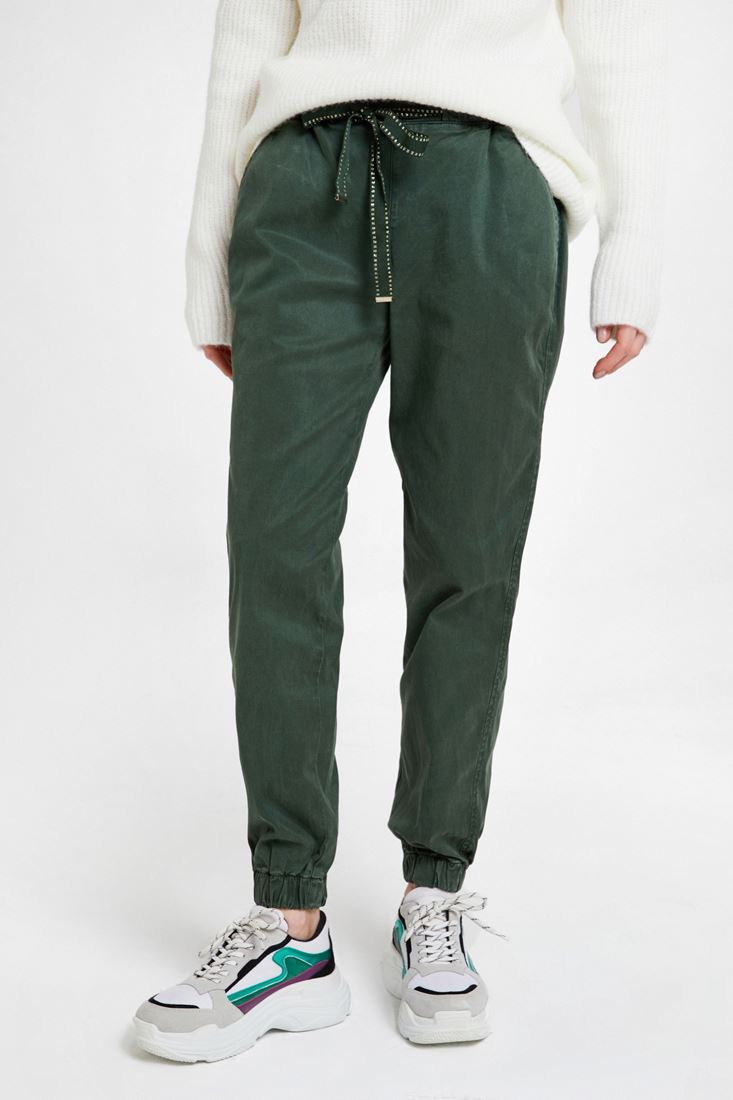 Green Jogger with Elasticated Waist