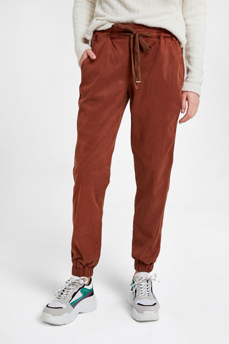 Brown Jogger with Elasticated Waist
