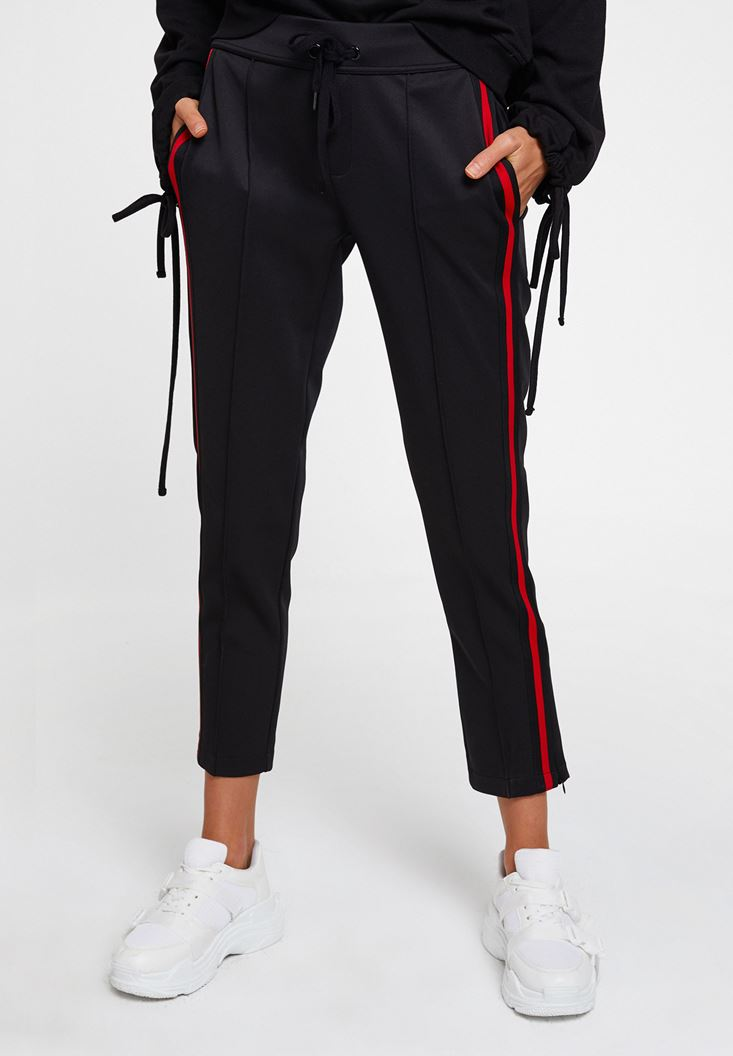 Mixed Trousers with Side Stripes