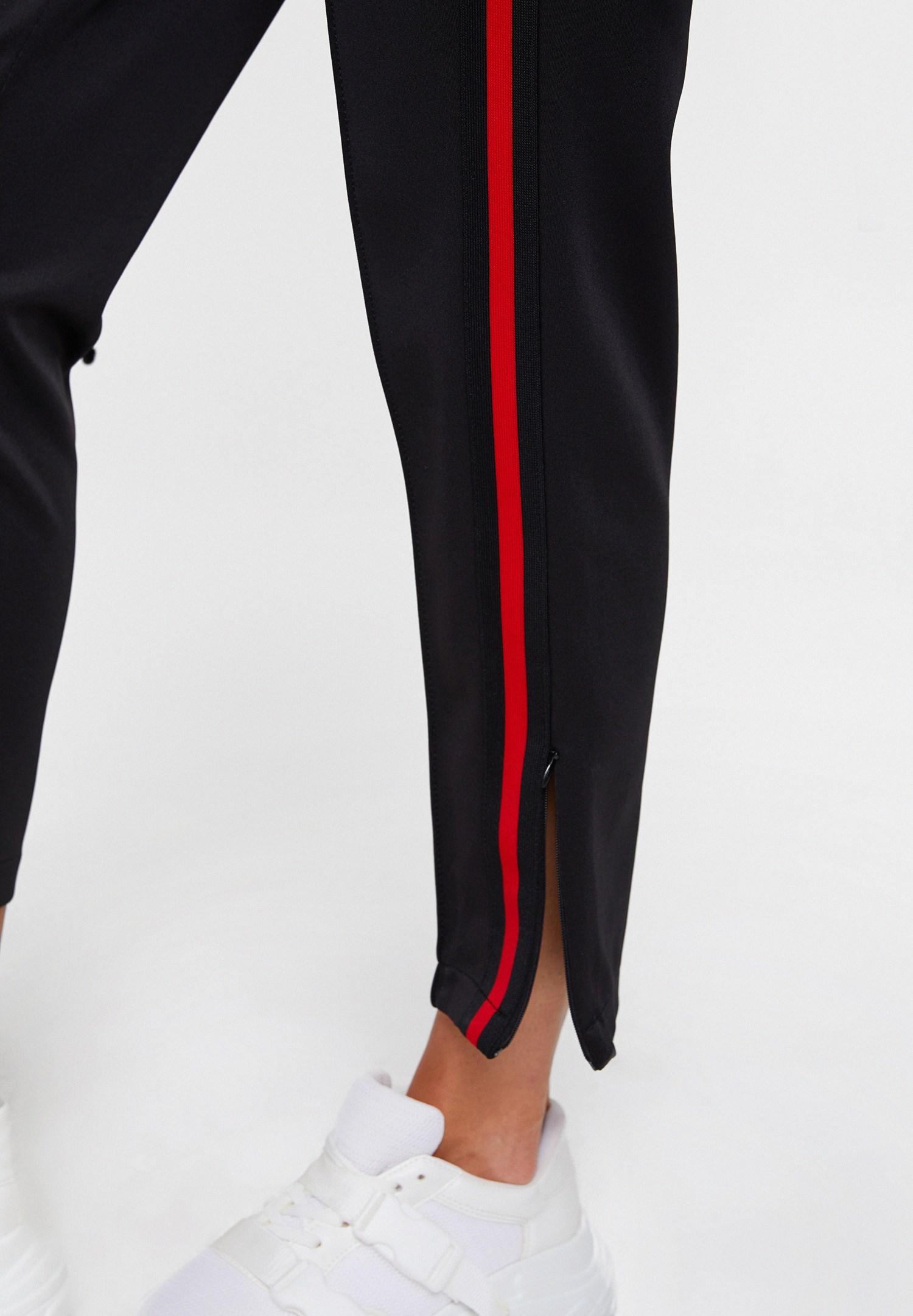 Bayan Çok Renkli Paça Detaylı Yanı Şeritli Pantolon