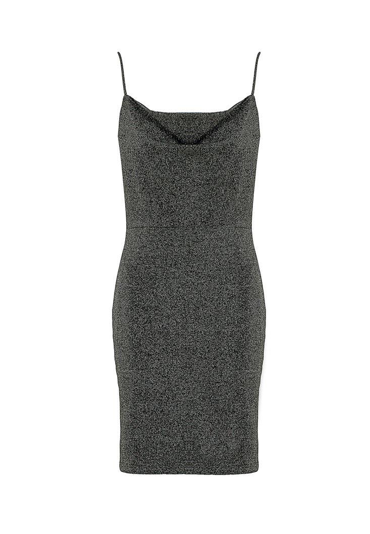 Sırt Detaylı İnce Askılı Elbise