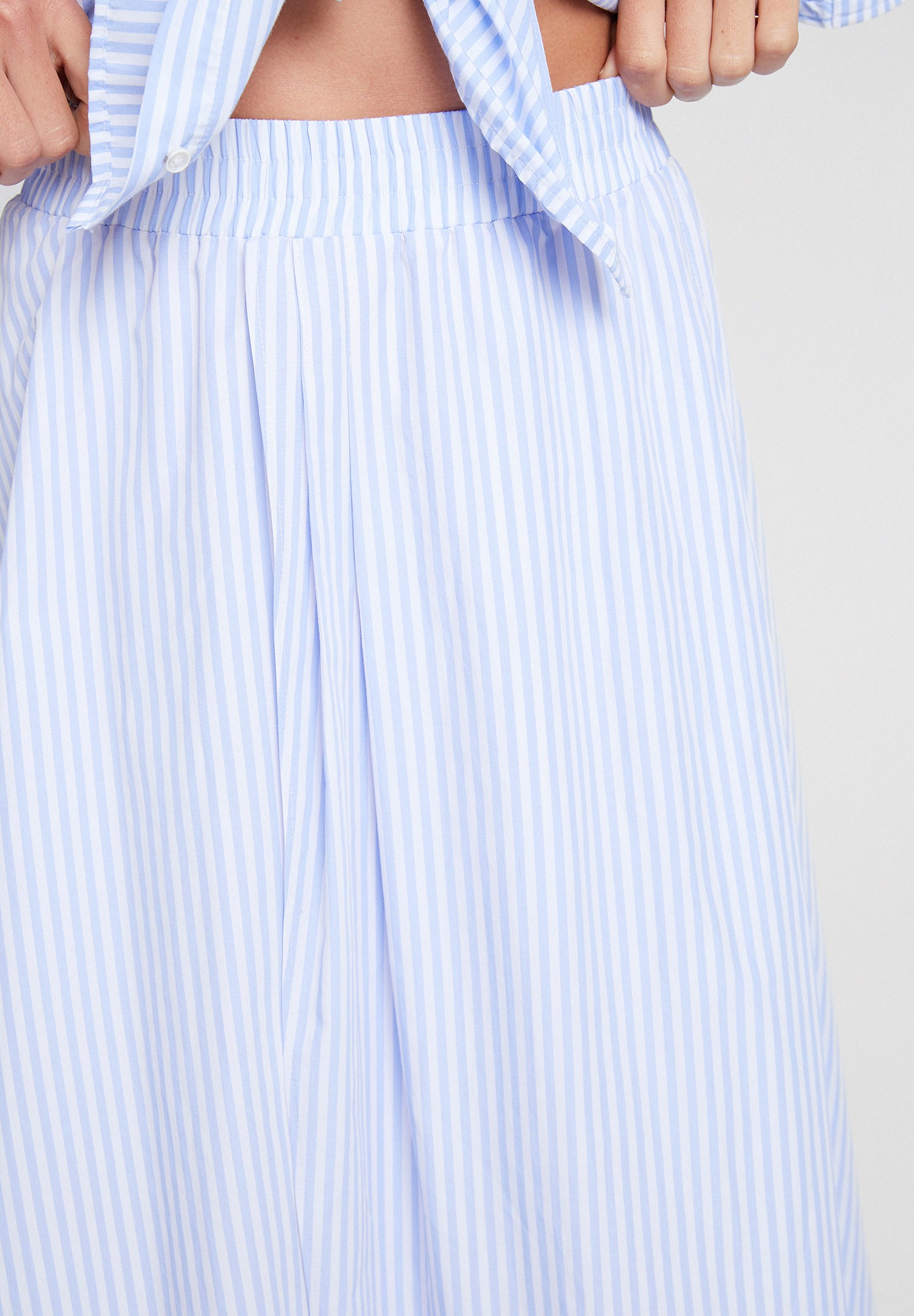 Women Mixed Skirt with Stripe