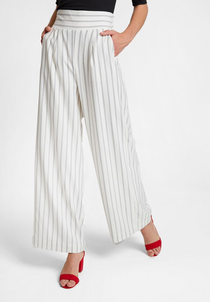 Mixed Striped Trousers