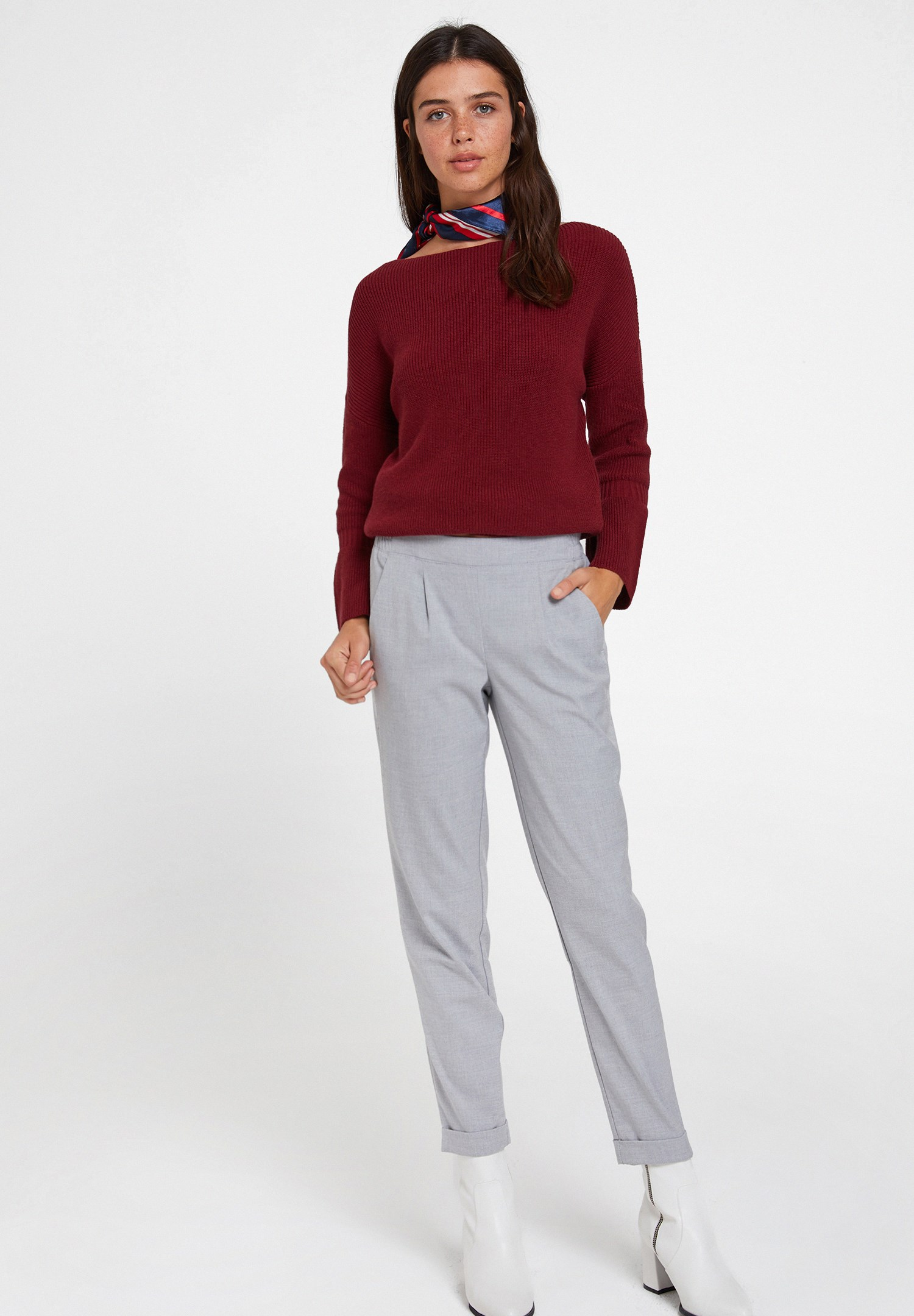 Women Grey Mid Rise Trousers