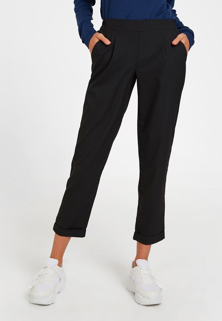 Black Pants with Rubber Details