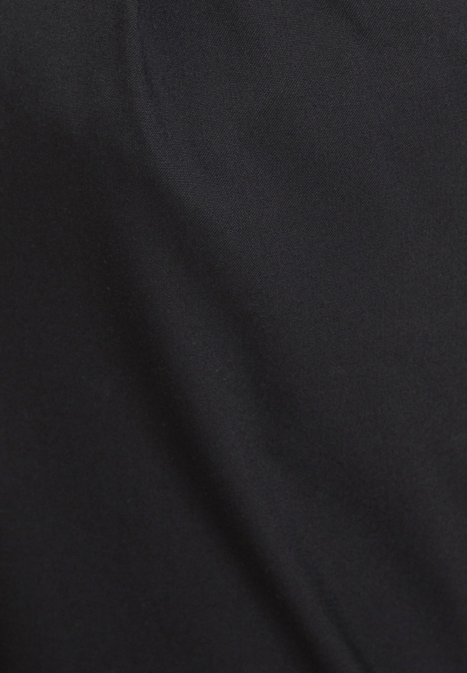 Women Black Pants with Rubber Details