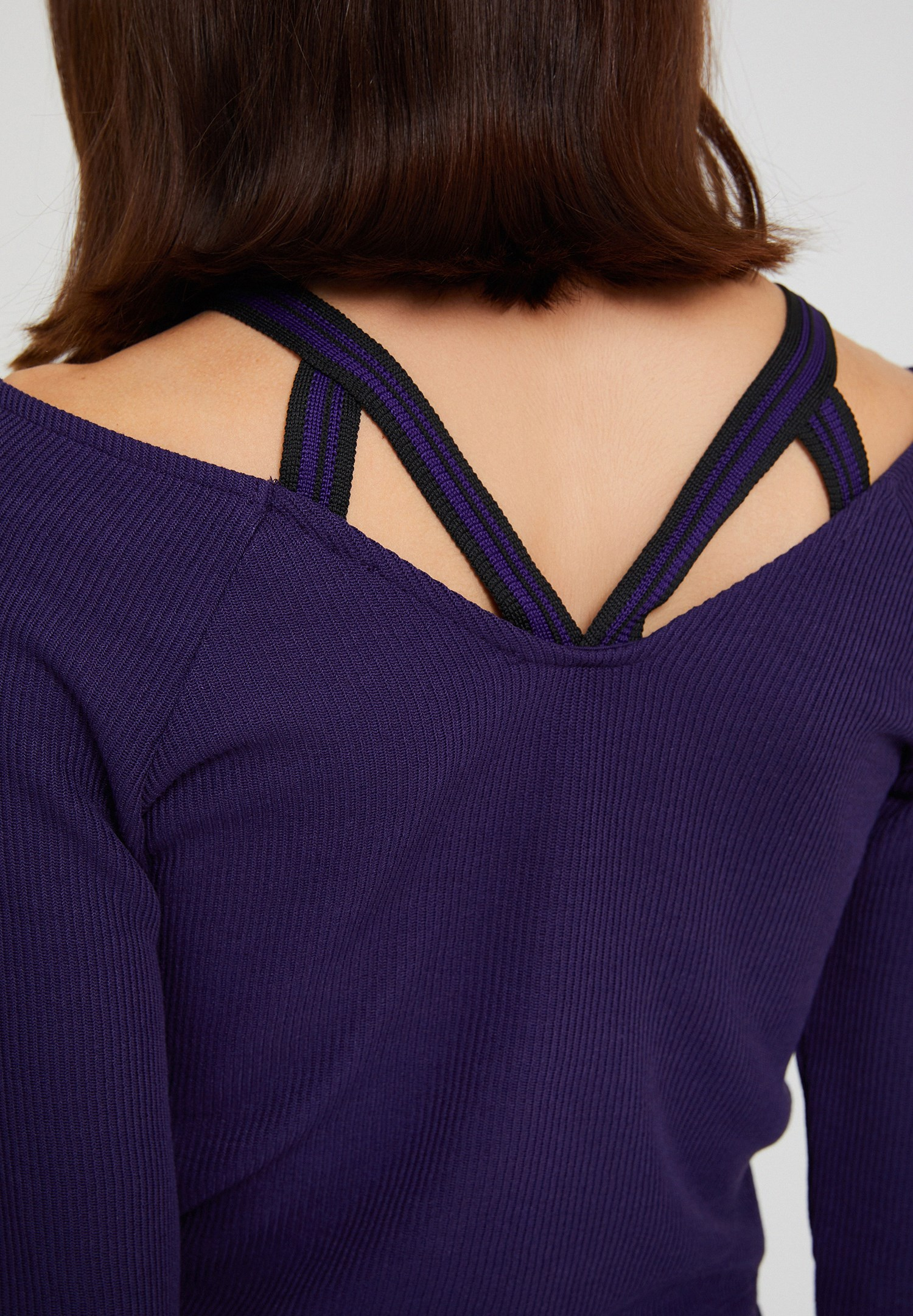Women Purple Top with Pipe Details