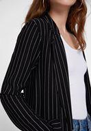 Bayan Çok Renkli Çizgi Desenli Blazer Ceket