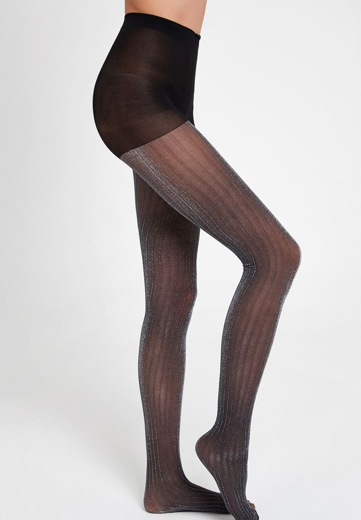Black Tights with Stripe