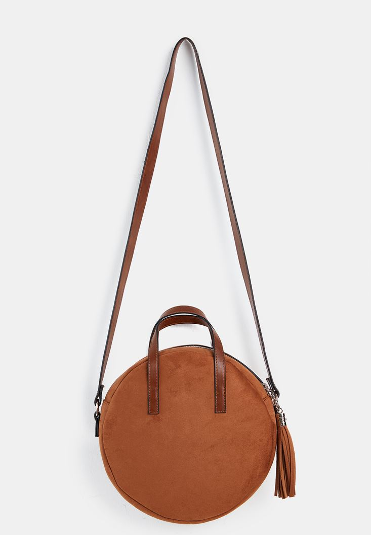 Brown Suede Handbag