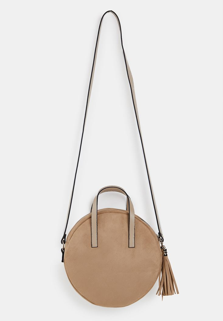 Cream Suede Handbag