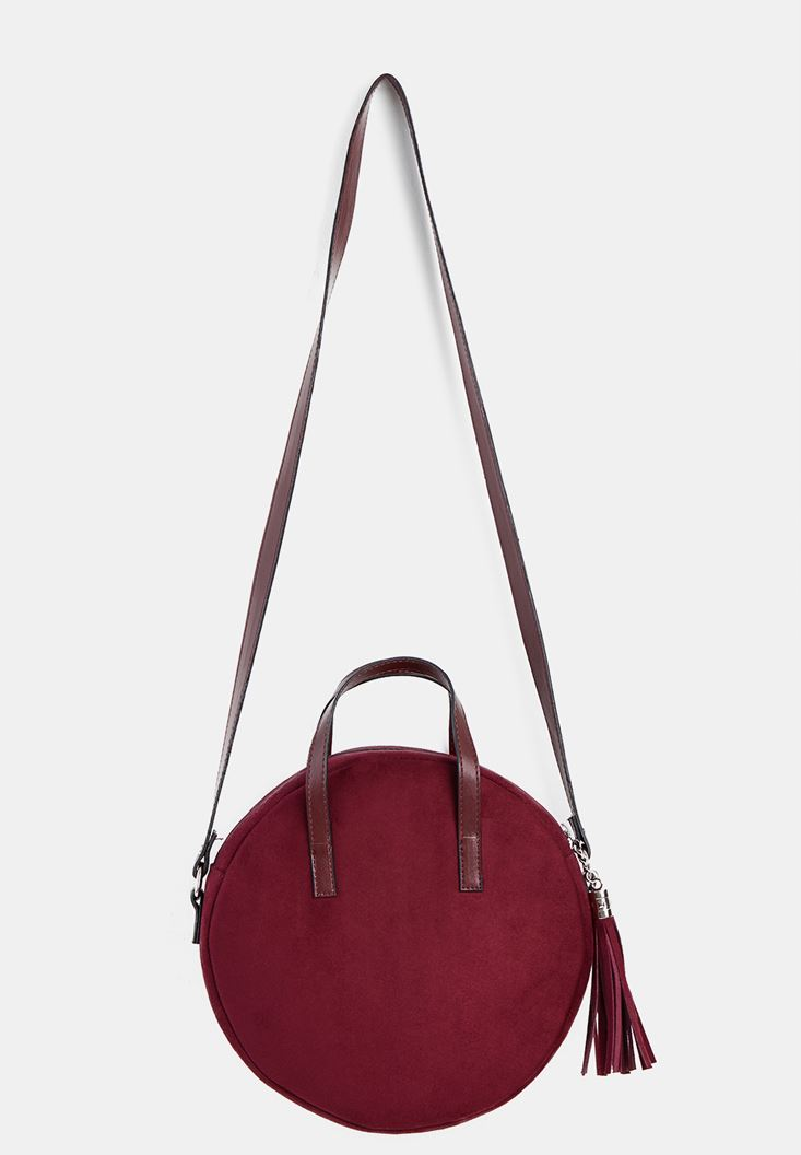 Bordeaux Suede Handbag