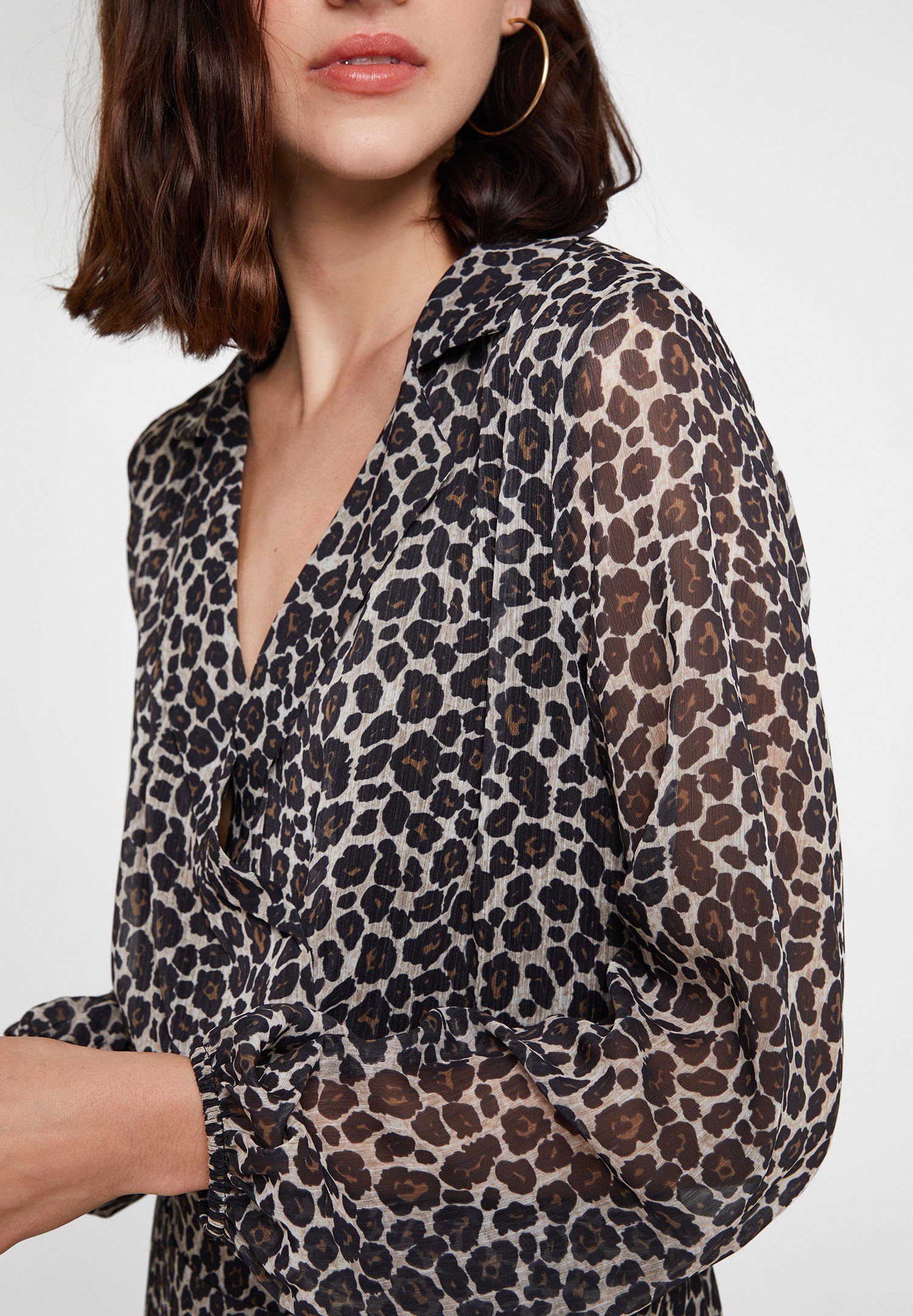 Women Mixed Leopard Print Top