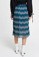 Women Mixed Pleated Skirt with Mix Pattern