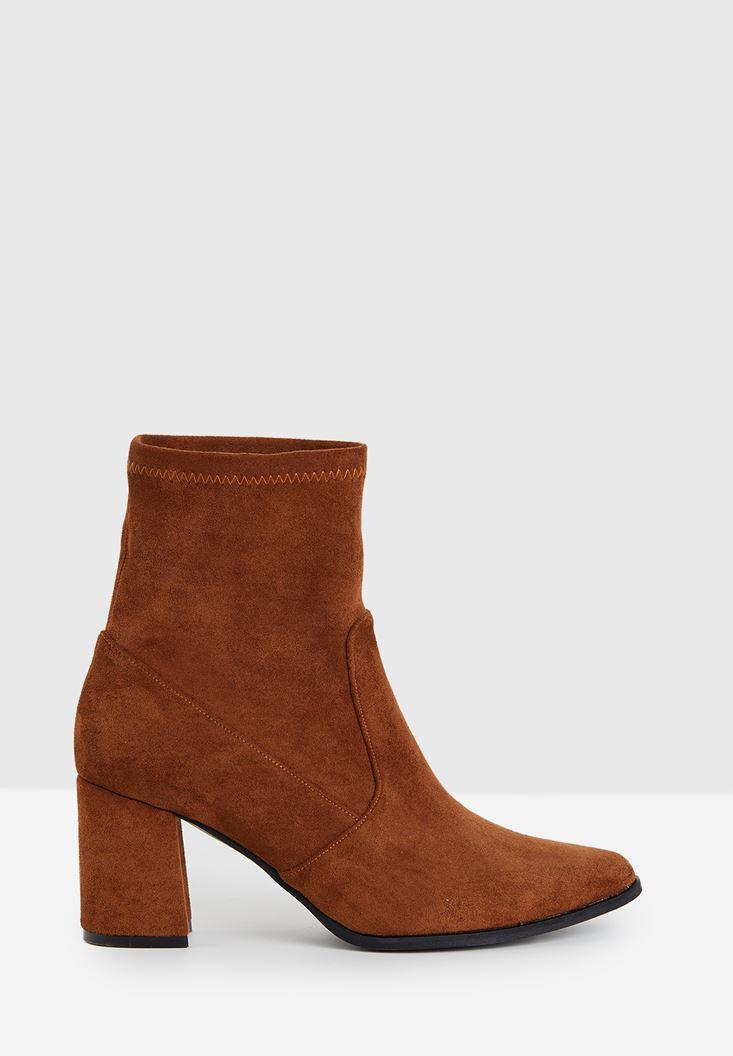 Suede High Heel Boots