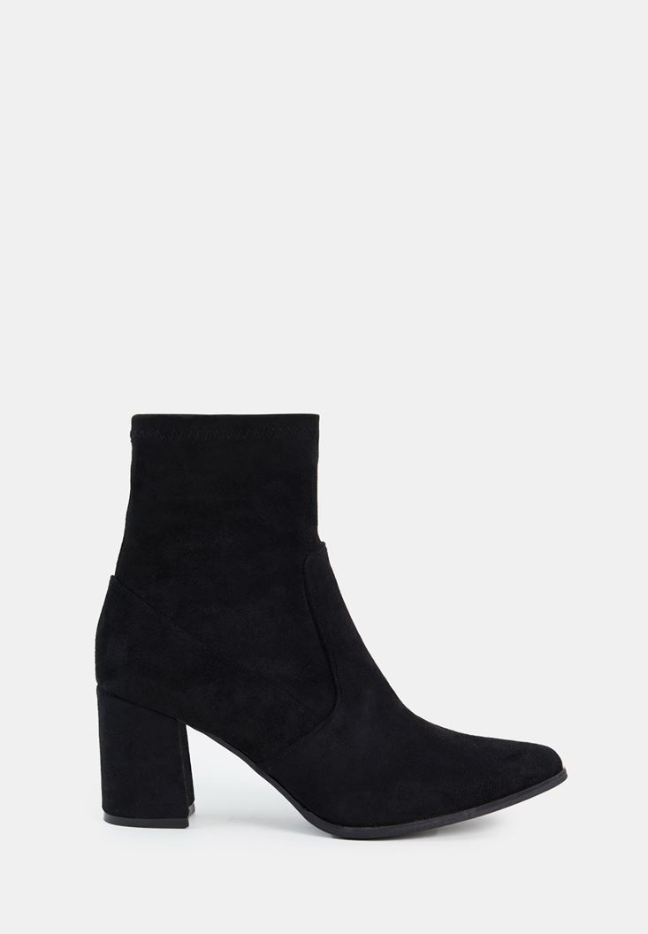 Suede High Heel Boots