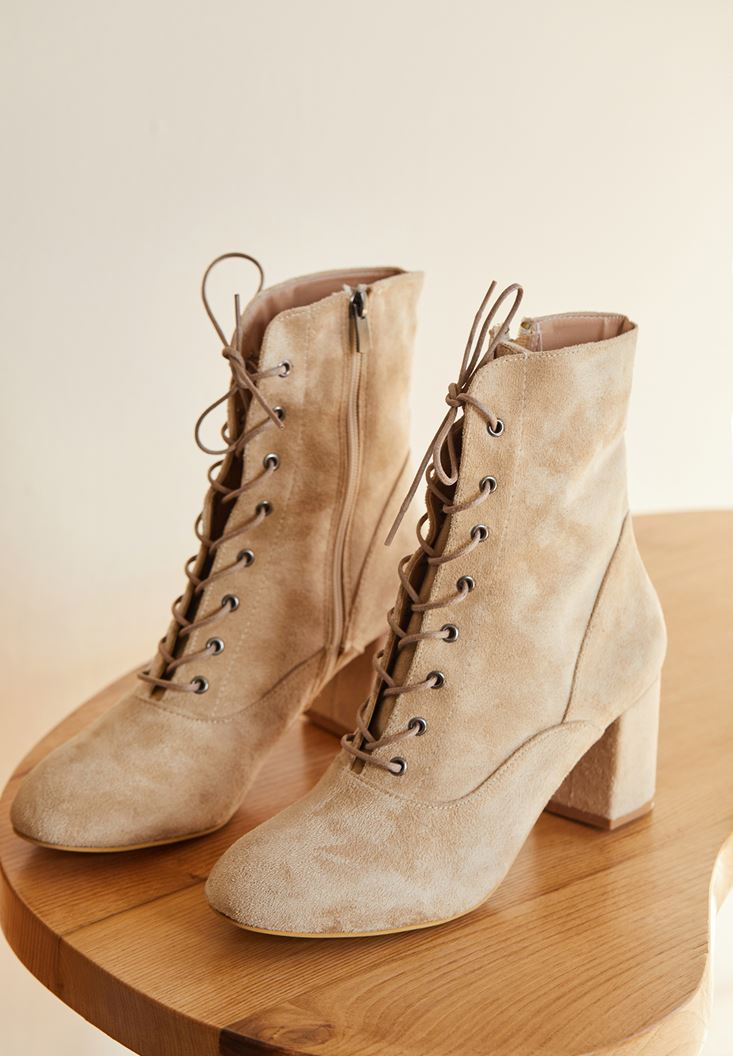 High Heel Shoes with Cord Detail
