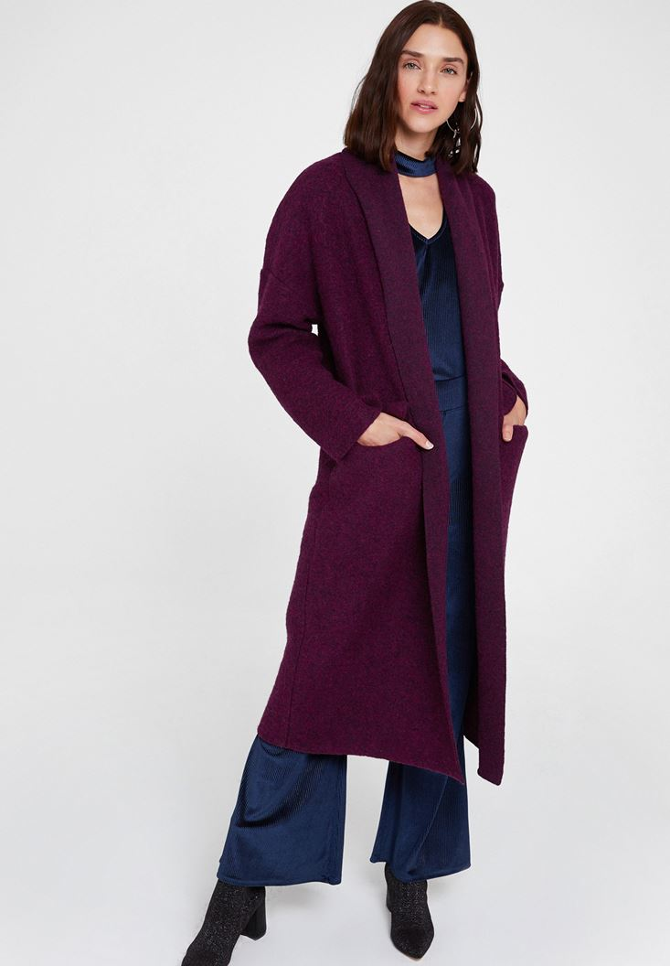 Purple Oversize Long Coat
