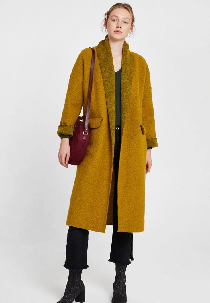 Green Oversize Long Coat