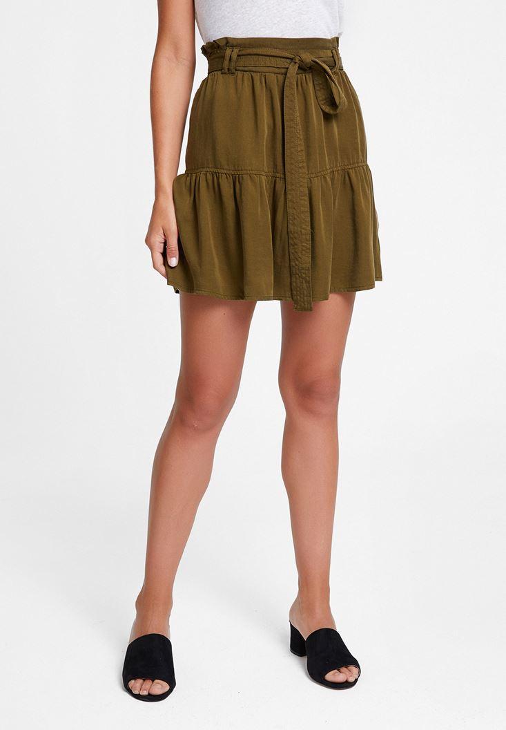 Green Belted Skirt
