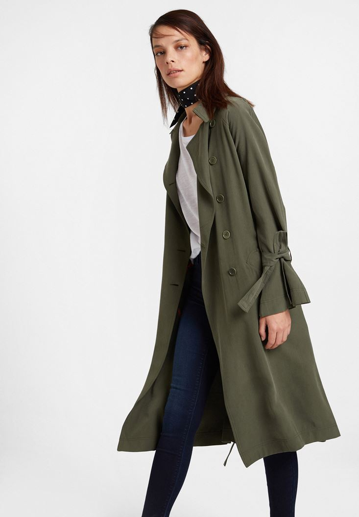 Green Trenchcoat with Details