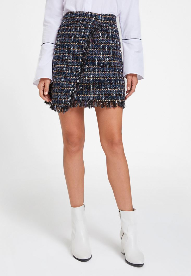 Mixed Tweed Skirt