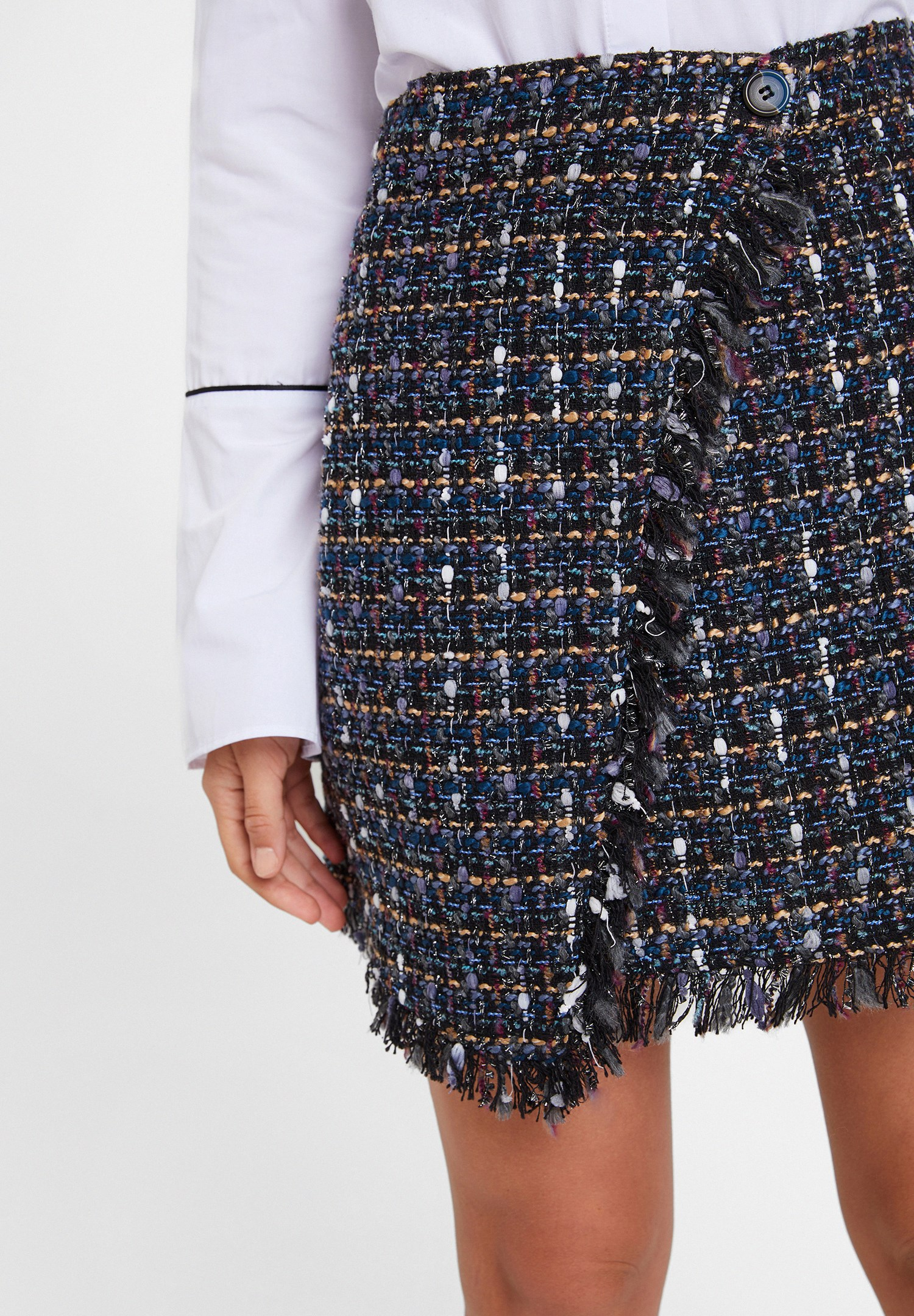 Women Mixed Tweed Skirt