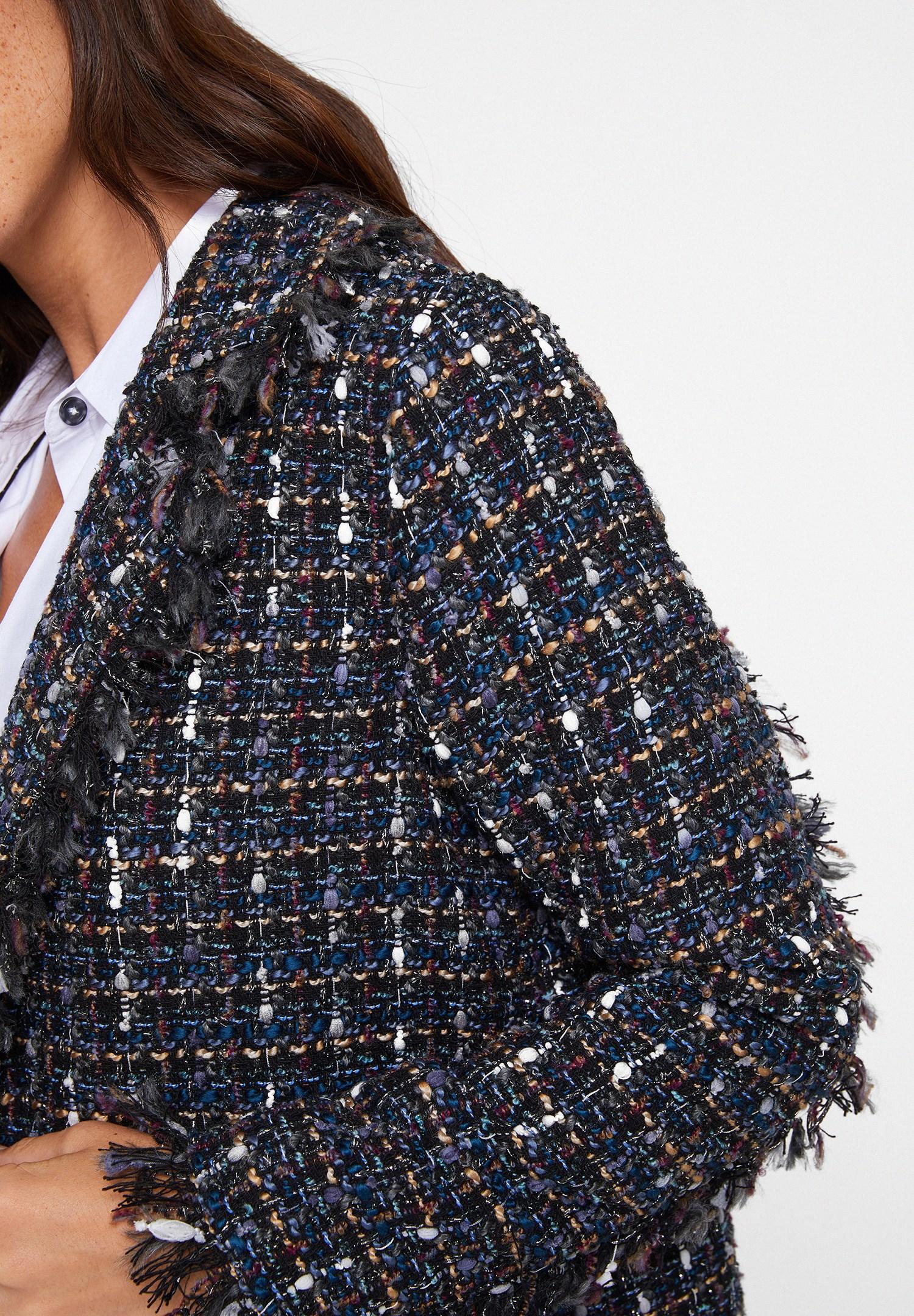 Bayan Çok Renkli Detaylı Tüvid Ceket