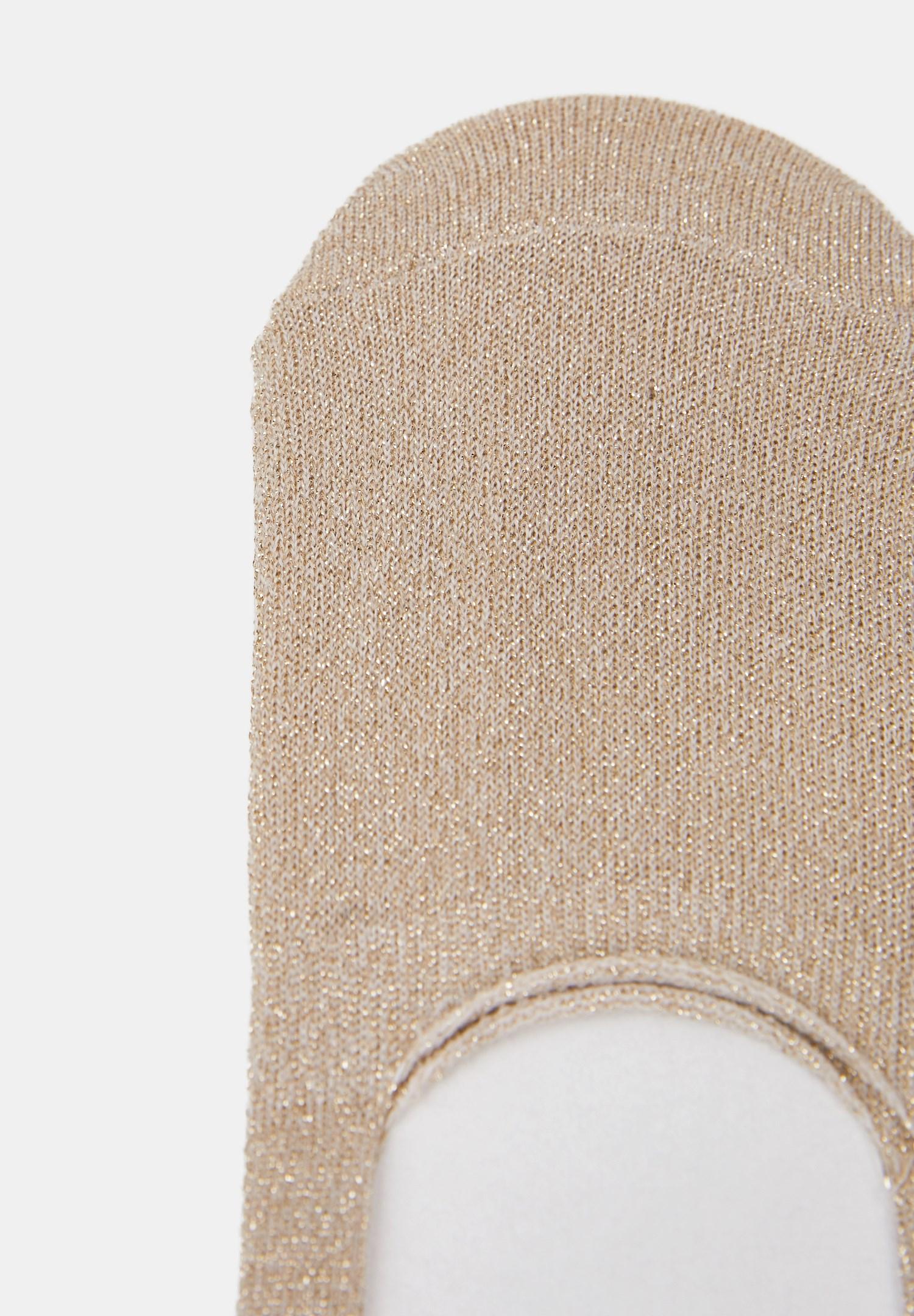 Bayan Çok Renkli Parlak Babet Çorabı
