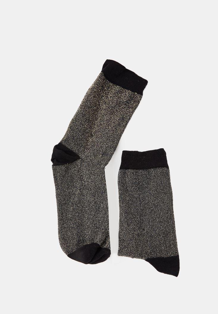 Çok Renkli Parlak Çorap