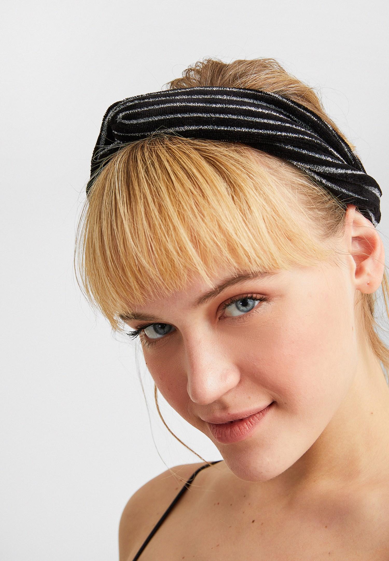 Bayan Siyah Simli Saç Bandı