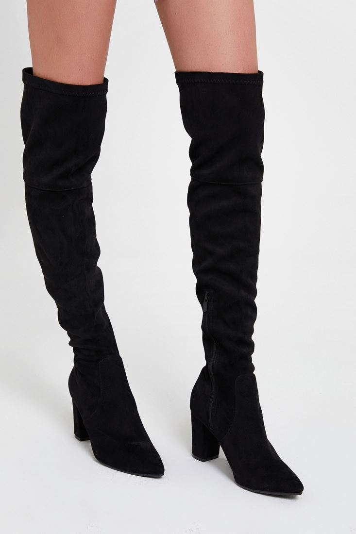 Black Long High Heel Boot
