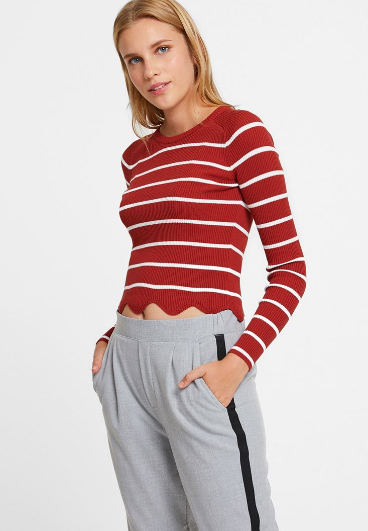 Mixed Knitwear with Stripe Details